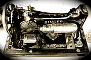 Singer Photo Originals - Antique Singer by Dieter  Lesche