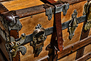 Leather Straps Prints - Antique Steamer Truck Detail Print by Paul Ward