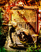 Daniel Posters - Antique Stove Door-Colorized Poster by  Onyonet  Photo Studios
