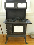 Coal Burner Framed Prints - Antique Stove Number 2 Framed Print by George Pedro
