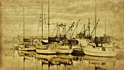 Antique Look Digital Art - Antique Style Boats by Janice Austin