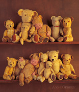 Shelves Photo Prints - Antique Teddies Print by Anne Geddes