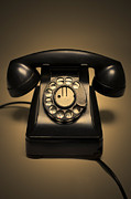Rotary Prints - Antique Telephone Print by Diane Diederich