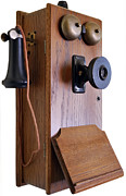 Talking Metal Prints - Antique Telephone Metal Print by Loree Johnson