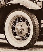 Spoked Wheel Posters - Antique Tire Poster by Brenda Conrad