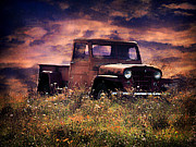 Prairie Skies Art Prints - Antique Truck Print by Darren Fisher