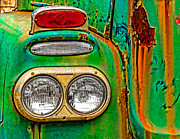 Rusty Truck Prints - Antique Truck Lights Print by William Jobes