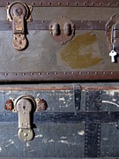 Straps Prints - Antique Trunks 5 Print by Anita Burgermeister