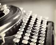 Typewriter Keys Photos - Antique typewriter by Ivy Ho