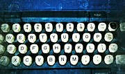 Typewriter Keys Framed Prints - Antique Typewriter Framed Print by Jon Aley