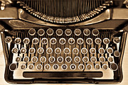 Typewriter Keys Photos - Antique typewriter by Juan R Velasco