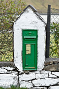 Pillar Box Prints - Antique Victorian Mail Box in Ireland Print by Jane McIlroy