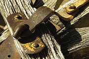 Wagon Wheels Photos - Antique Wagon Hitch by David Allen Pierson