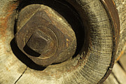 Wagon Wheels Photos - Antique Wagon Wheel-003 by David Allen Pierson