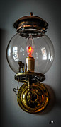 Edison Posters - Antique Wall Lamp Poster by Grace Grogan
