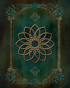 Dark Turquoise Posters - Antique Wall Mural Poster by Bedros Awak