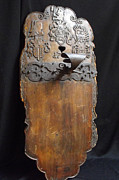 Dated Originals - Antique wall plaque used as a light candles holder by Anonymous