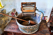 Wash Tub Photos - Antique Washing Machine by Paul Ward
