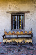 David Doucot - Antique Wooden Bench and...