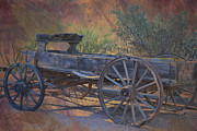 Posters On Digital Art Prints - Antique Wooden Wagon Print by Beverly Guilliams