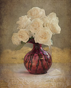 Bouquet Of Roses Posters - Antiqued Roses Poster by Betty LaRue