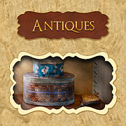 Antiques Prints - Antiques button Print by Mike Savad