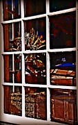 Resale Framed Prints - Antiques in the Window Framed Print by JW Hanley
