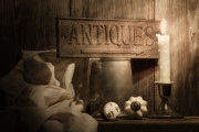 Candlestick Prints - Antiques Still Life Print by Tom Mc Nemar