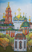 Moscow Painting Metal Prints - Antiquity-Sergiev Posad Metal Print by Khromykh Natalia