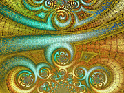 Coil Posters - Antiquitys Gold 2 Poster by Wendy J St Christopher