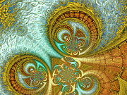 Coil Posters - Antiquitys Gold 3 Poster by Wendy J St Christopher