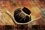 Photomanipulation Photo Prints - Antler and Olla Print by Karen Slagle