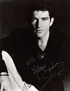 Signed Poster Art - Antonio Banderas Signed Poster by Sanely Great