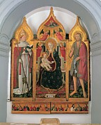 Attributes Prints - Antonio Da Fabriano, Enthroned Madonna Print by Everett