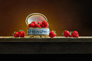 Strawberries Paintings - Ants by Mark Van crombrugge