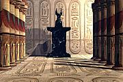 Egyptian Mummy Prints - Anubis Temple Print by Corey Ford