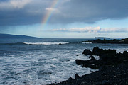 Heavens Framed Prints - Anuenue - Rainbow over  Alalakeiki Channel Kihei Maui Hawaii Framed Print by Sharon Mau