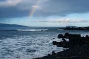 Anuenue - Rainbow Over  Alalakeiki Channel Kihei Maui Hawaii Print by Sharon Mau