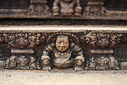 Buddhism Photo Posters - Anuradhapura carving Poster by Jane Rix