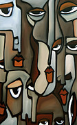 Original Abstract Art Drawings - Anxiety by Fidostudio by Tom Fedro - Fidostudio