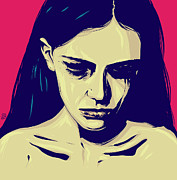 Pop Art Drawings - Anxiety by Giuseppe Cristiano