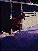 Stable Painting Originals - Anxious To Run by Paulette Wright