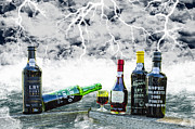 Wine Bottle Images Posters - Any Port In A Storm Poster by Deborah Smolinske