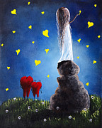Red Heart Paintings - Anytime You Need A Friend by Shawna Erback by Shawna Erback