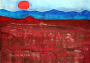 Badlands Painting Originals - Anza-Borrego Vista original painting by Sol Luckman
