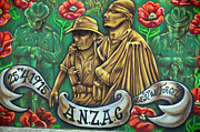 Anzac Photos - ANZAC Mural by Martin Berry