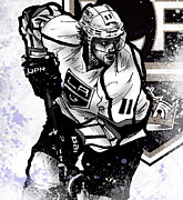 Hockey Digital Art Posters - Anze Kopitar Poster by Nate Gandt