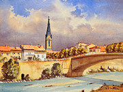 Gaul Paintings - Aouste-Sur-Sye France by Bill Holkham