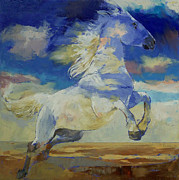 Wolken Painting Prints - Apache Dreaming Print by Michael Creese