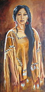 Notecards Painting Prints - Apache Sun Print by Linda Rous
